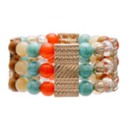 Mixit™ Wide Multi-Bead Stretch Bracelet