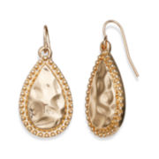 Bold Elements™ Gold-Tone Hammered Teardrop Earrings