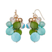 Mixit™ Blue & Green Shell Cluster Drop Earrings