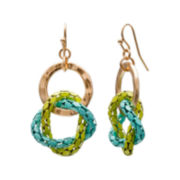 Mixit™ Blue and Green Chain Drop Earrings