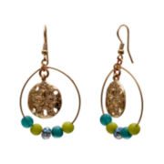 Mixit™ Blue and Green Bead Hoop Earrings