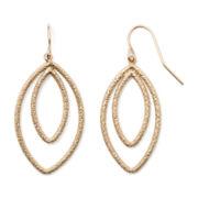 Bold Elements™ Gold-Tone Double-Teardrop Earrings