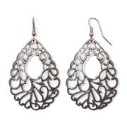 Bold Elements™ Silver-Tone Filigree Drop Earrings