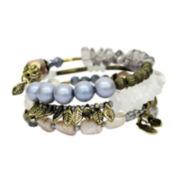 Aris by Treska 4-Row Beaded Coil Bracelet
