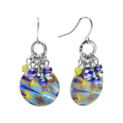 Studio By Carol Dauplaise Cluster Disc Drop Earrings