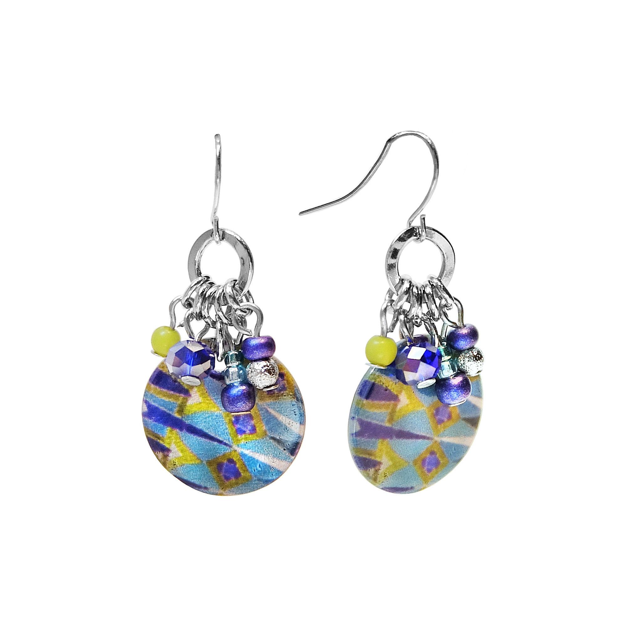 Studio By Carol Dauplaise Cluster Disc Drop Earrings