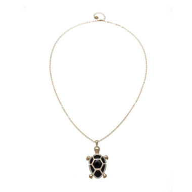 jcpenney.com | Monet® Black and Gold-Tone Turtle Pendant Necklace