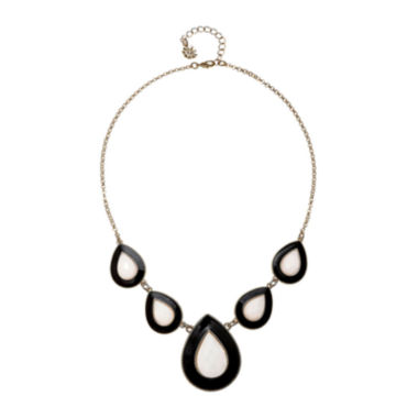 jcpenney.com | Monet® Black and White Teardrop Y Necklace
