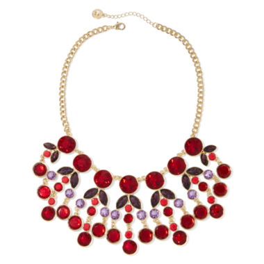jcpenney.com | Liz Claiborne® Red Gold-Tone Statement Necklace