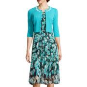 Perceptions 3/4-Sleeve Print Jacket Dress