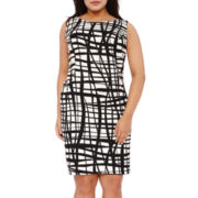 Alyx® Sleeveless Grid Sheath Dress - Plus