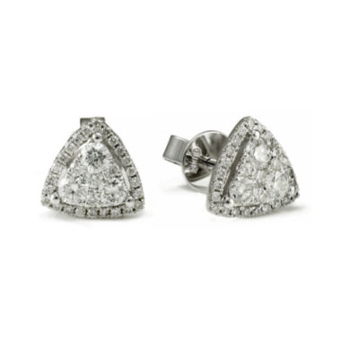 jcpenney.com | LIMITED QUANTITIES 3/4 CT. T.W. Diamond 14K White Gold Triangle Earrings