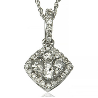 jcpenney.com | LIMITED QUANTITIES 1/3 CT. T.W. Diamond 14K White Gold Pendant Necklace