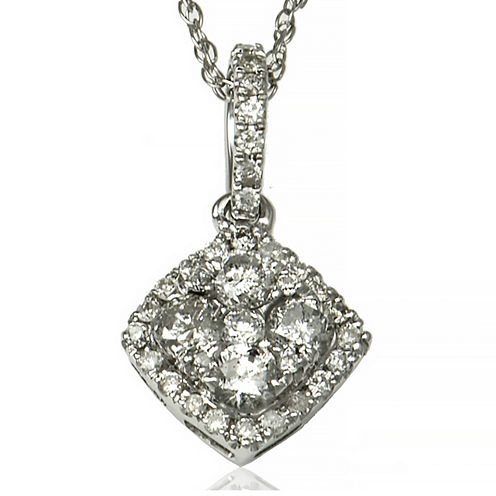 LIMITED QUANTITIES 1/3 CT. T.W. Diamond 14K White Gold Pendant Necklace