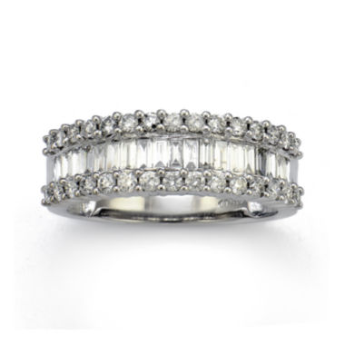 jcpenney.com | LIMITED QUANTITIES 1 CT. T.W. Diamond 14K White Gold Wedding Band