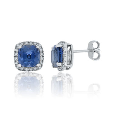 jcpenney.com | Lab-Created Blue & White Sapphire Sterling Silver Earrings
