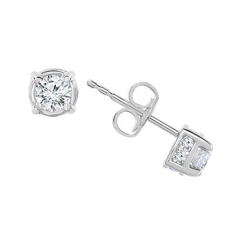 1/2 CT. T.W. Diamond 10K White Gold Stud Earrings