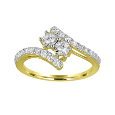 jcpenney.com | Two Forever™ 1/2 C.T. TW. Diamond 10K Yellow Gold Engagement Ring