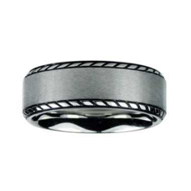 jcpenney.com | Mens 8mm Titanium Rope Border Wedding Band