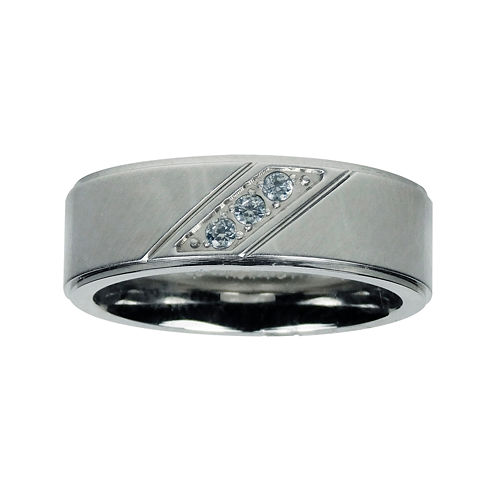 Mens 1/10 CT. T.W. Diamond Cobalt Wedding Band