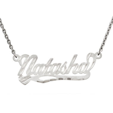 jcpenney.com | Personalized 10x31mm Diamond-Cut Scroll Name Necklace