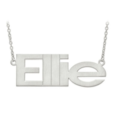 jcpenney.com | Personalized 53x19mm Arial Font Name Necklace