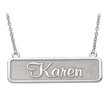jcpenney.com | Personalized 34x12mm Memento Font Name Plate Necklace