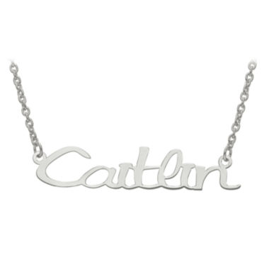 jcpenney.com | Personalized 9x45mm Veilchen Font Name Necklace