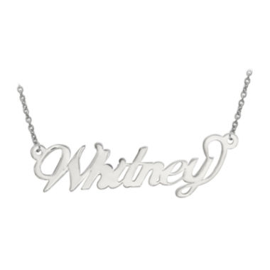 jcpenney.com | Personalized 14x42mm Andrea Font Name Necklace