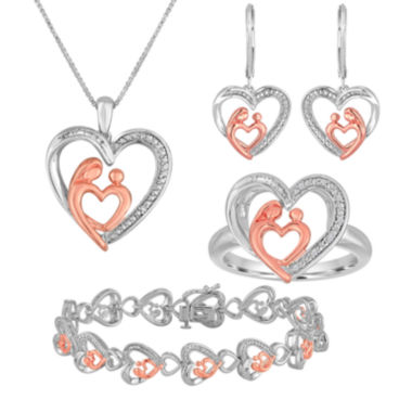 jcpenney.com | 1/5 CT. T.W. Diamond Mom and Baby 4-pc. Jewelry Set