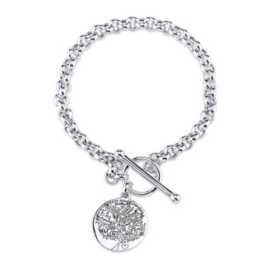 jcpenney.com | Inspired Moments™ Family Tree Sterling Silver Toggle Bracelet