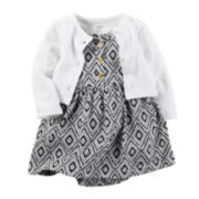 Carter's® Geo Print Bodysuit Dress and Cardigan Set - Baby Girls newborn-24m