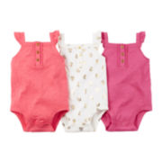 Carter's® 3-pk. Sleeveless Bodysuits - Baby Girls newborn-24m