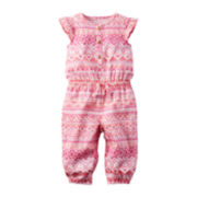 Carter's® Sleeveless Aztec Print Jumpsuit - Baby Girls newborn-24m