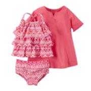 Carter's® 3-pc. Sleeveless Swimsuit Set - Baby Girls newborn-24m