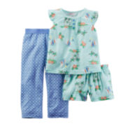 Carter's® 3-pc. Sailboat Pajama Set - Toddler Girls 2t-5t