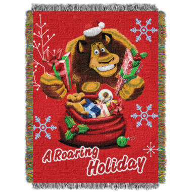 jcpenney.com | Dreamworks Madagascar Holiday Tapestry Throw