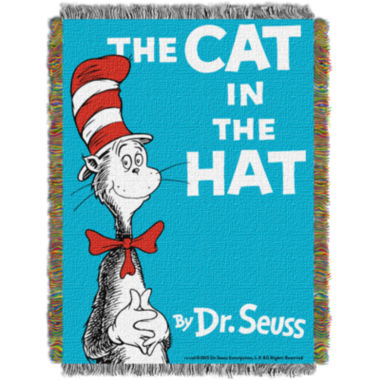 jcpenney.com | Dr.Seuss Cat in the Hat Tapestry Throw