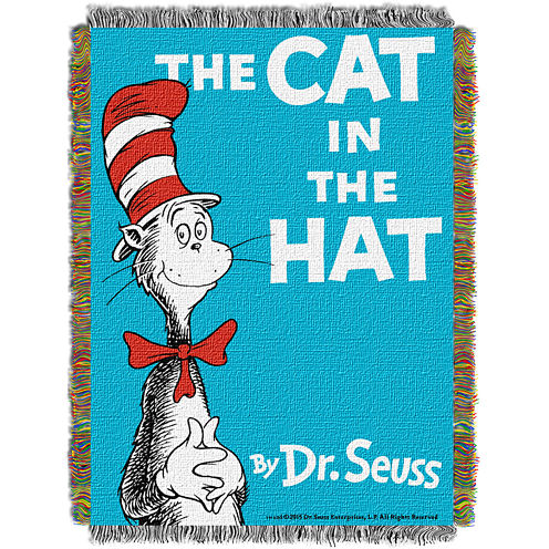 Dr.Seuss Cat in the Hat Tapestry Throw