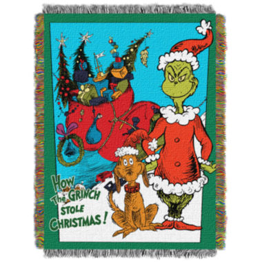 jcpenney.com | Dr. Seuss The Grinch Tapestry Throw