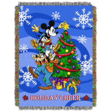 jcpenney.com | Mickey Mouse Holiday Tapestry Throw