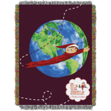 jcpenney.com | Elf On The Shelf Tapestry Throw