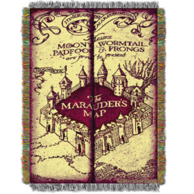 jcpenney.com | Harry Potter Marauders Map Tapestry Throw