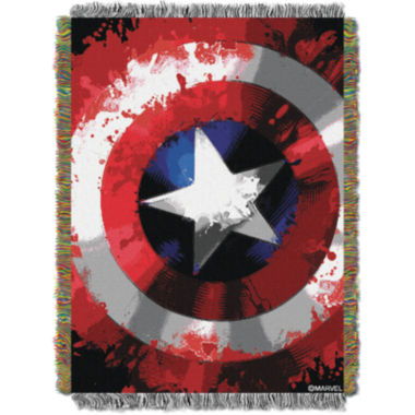 jcpenney.com | Captain America Star Shield Tapestry Throw