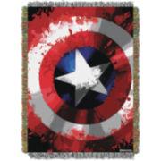 Captain America Star Shield Tapestry Throw