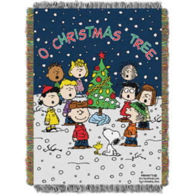 jcpenney.com | Peanuts Charlie Brown Christmas Tapestry Throw