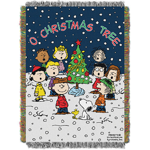 Peanuts Charlie Brown Christmas Tapestry Throw