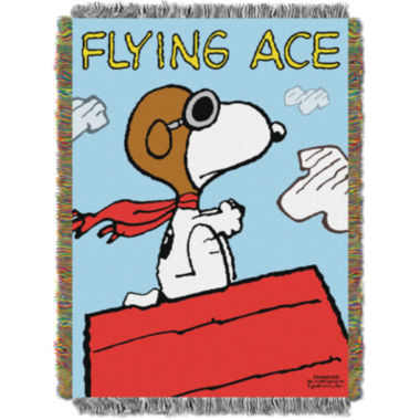 jcpenney.com | Peanuts Snoopy Tapestry Throw