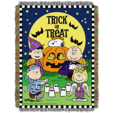 jcpenney.com | Peanuts Trick or Treat Tapestry Throw