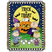 Peanuts Trick or Treat Tapestry Throw